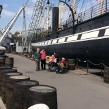Our group sees historic ship at first hand